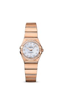 Women's Favorite Omega Constellation Quartz Copy Watches With Red Gold Bracelets