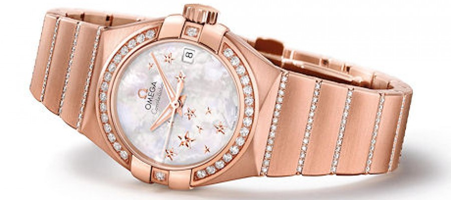Omega Constellation Star Rose Gold Diamonds Watch Replica