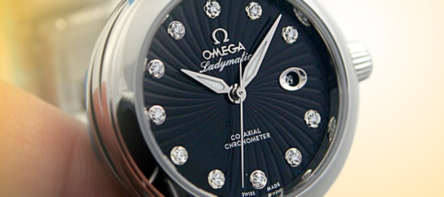 Omega Ladymatic Ladies Black Dial Steel Replica Watches