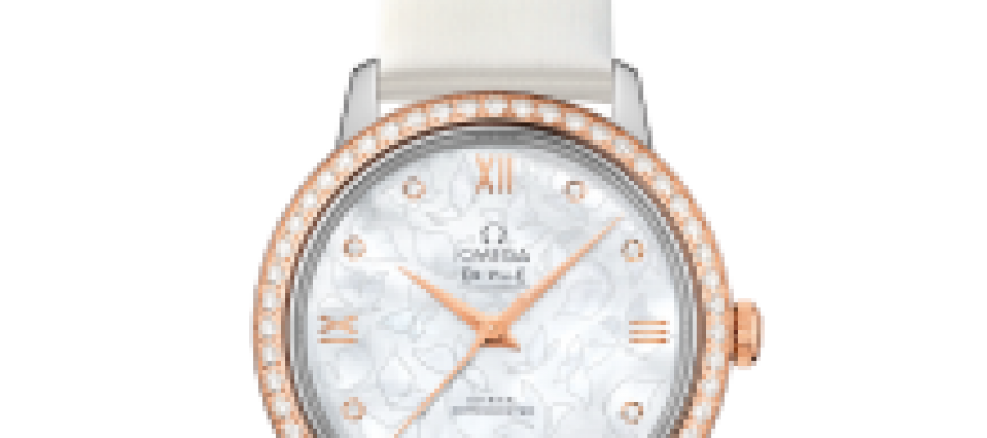 Replica Omega Ville Prestige Butterfly Co-Axial 32.7 MM Leather Strap Watches For Women