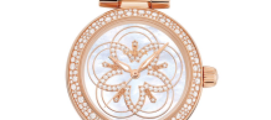 Replica Omega De Ville Ladymatic Watches With Flower Pattern Dial For Sale