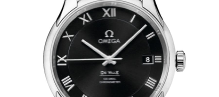 Replica Omega De Ville Co-Axial Black Dial Men's Watches
