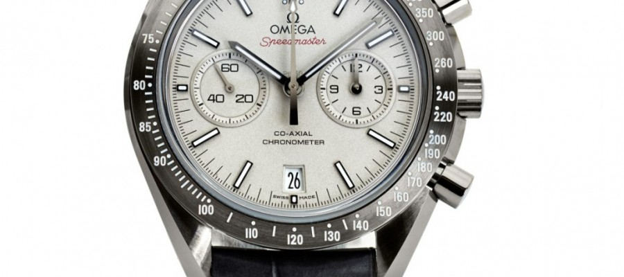 Fake Cheap Omega Speedmaster Lunar Dust Coaxial White Dial Wrist Watch