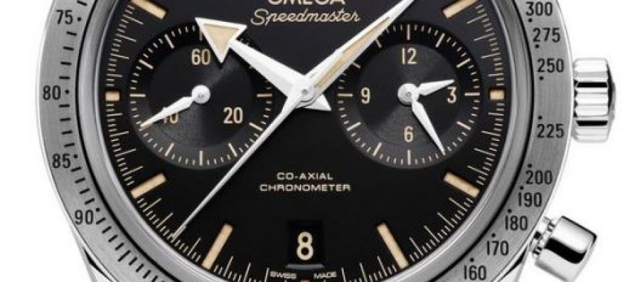 Black Dial Omega Speedmaster Replica Watches Represented By George Clooney