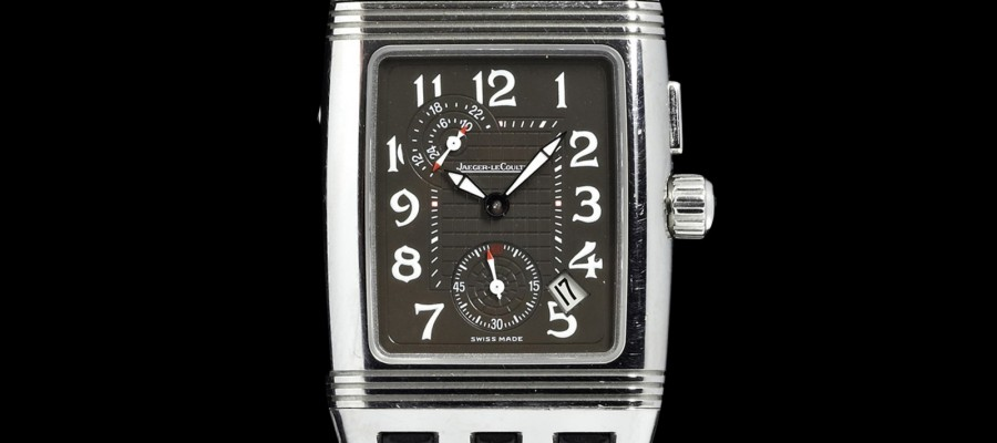 Swiss Replica  Jaeger Lecoultre Reverso Gran Sport Duo Black Dial Watch