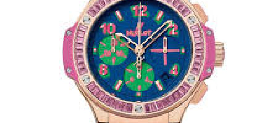 41mm Hublot Big Bang Pop Art Yellow Gold Rose Replica Watch