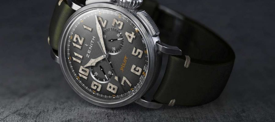 Best Zenith Heritage Pilot Ton-Up Nubuck Strap Replica Watch