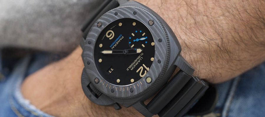 Black dial panerai luminor submersible 1950 carbotech 3 days automatic 47mm replica watch pam 00616