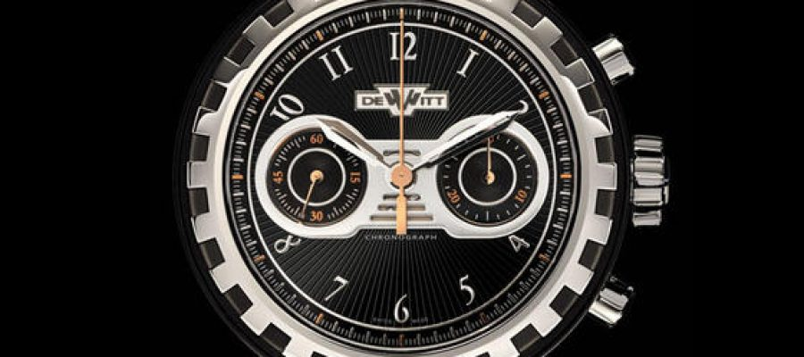 Titanium dewitt academia black stream chronograph replica watch