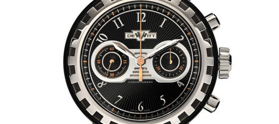Black Rubber DeWitt Academia Blackstream Chronograph Replica Watch Ref.AC.6005.37A.M090