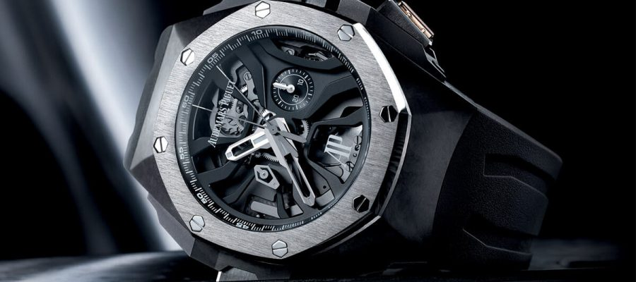 Caoutchouc Strap Audemars Piguet Royal Oak Concept Titanium Replica Watch