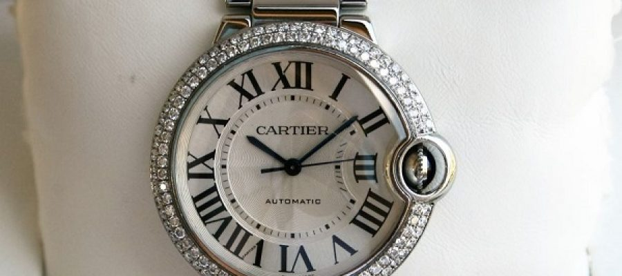 Steel Case Diamonds Bezel Cartier Ballon Bleu Cartier Replica Watch