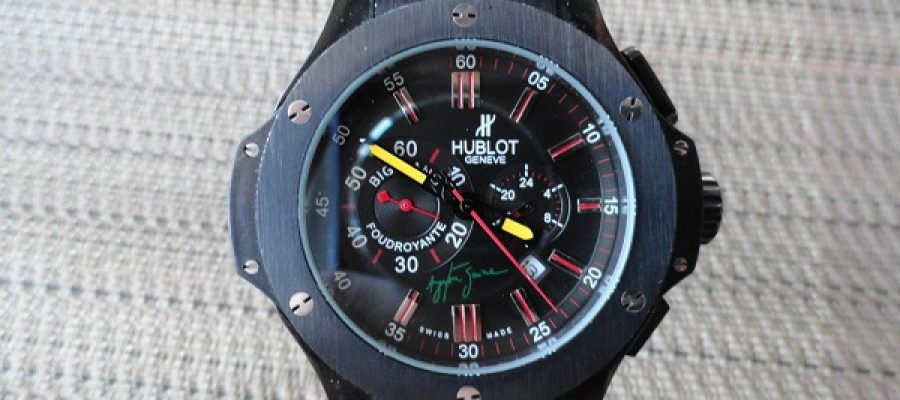 Black dial hublot big bang ayrton senna limited edition replica