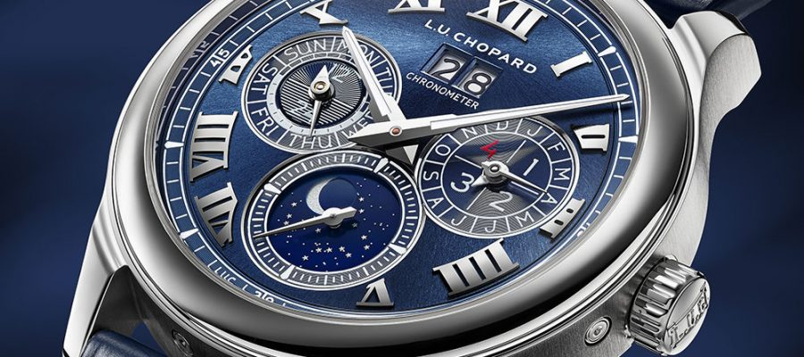 Blue Dial Chopard L.U.C Lunar One Watch Replica Online