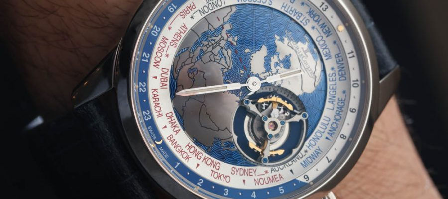 Top Quality Jaeger-LeCoultre Geophysic Universal Time Tourbillon Watch Hands-On Replica Trusted Dealers