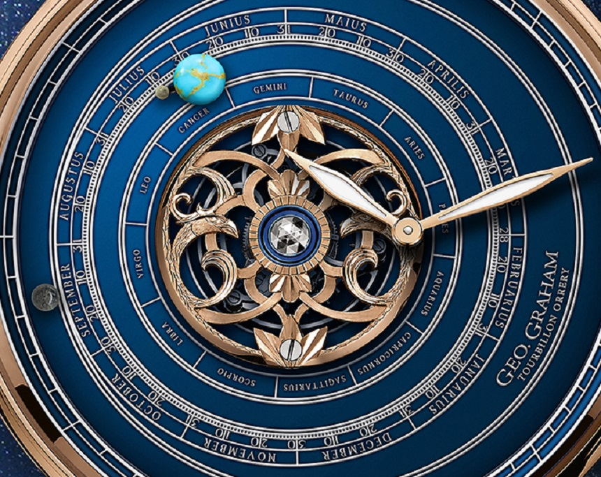 Graham Geo.Graham Orrery Tourbillon Astronomical Watch With Pieces Of The Moon, Mars, & Earth Watch Releases